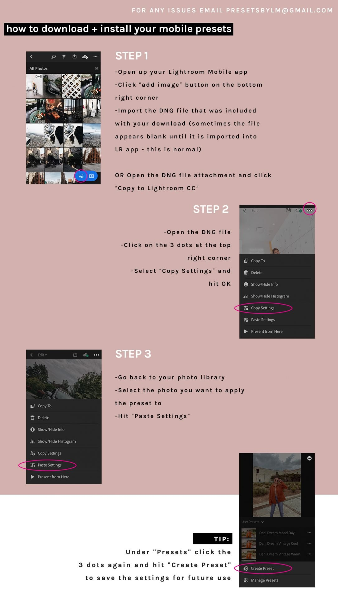 Download + Install Mobile Preset